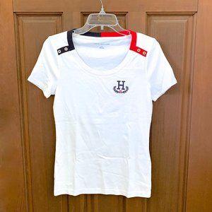"""Tommy Hilfiger Embroidered """"H"""" Crest Logo T-Shirt"""